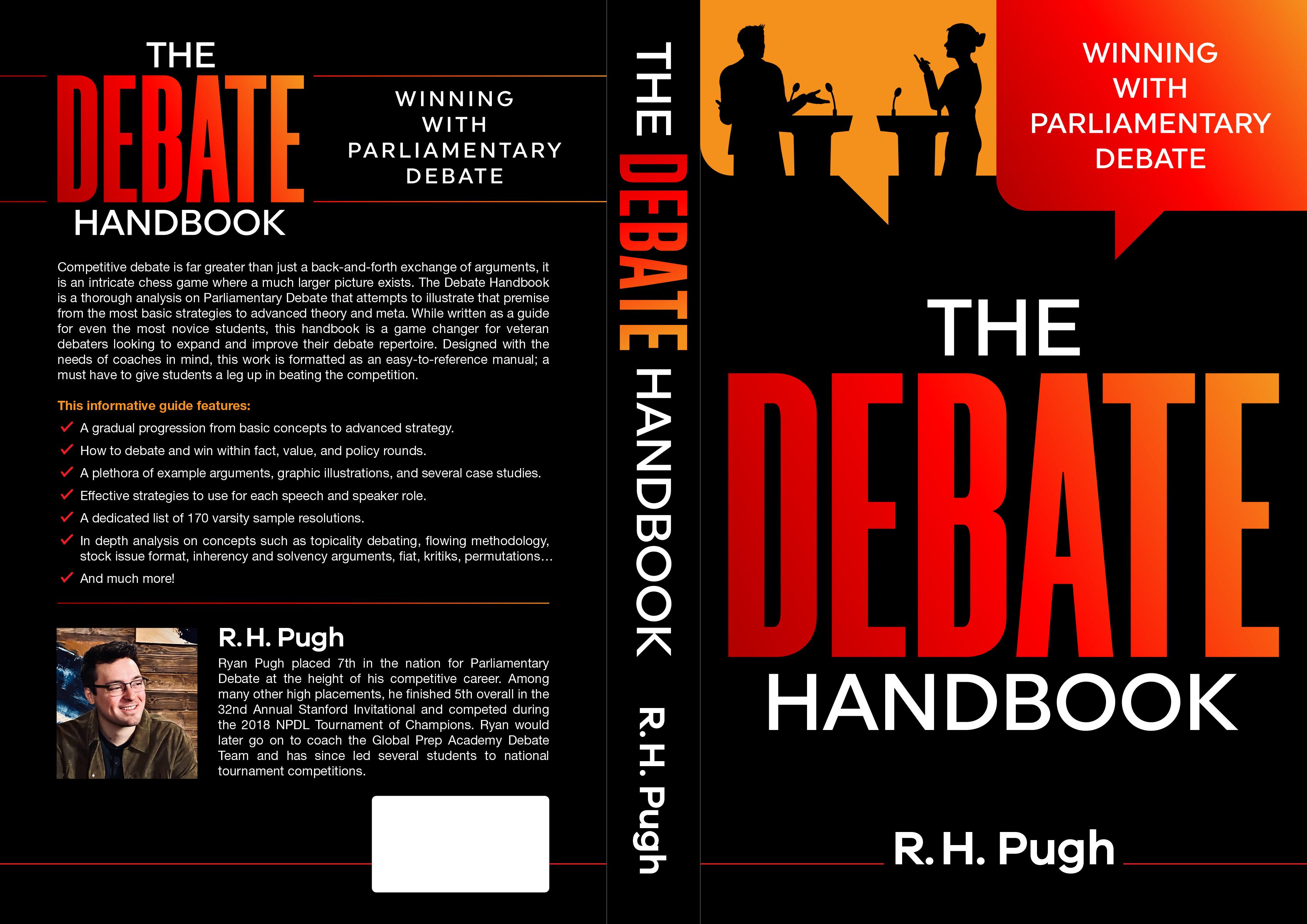 Book Cover Design, High School Debate / Rhetoric Book, Casual, Modern, relatively simple