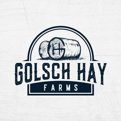 Winning Logo Design for Golsch Hay Farms