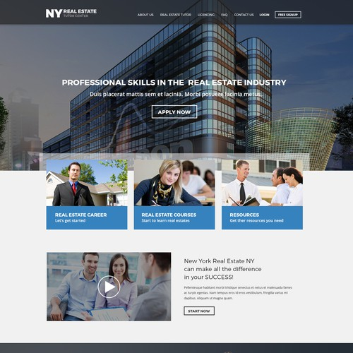 Responsive Website for NY Real Estate Study Guide
