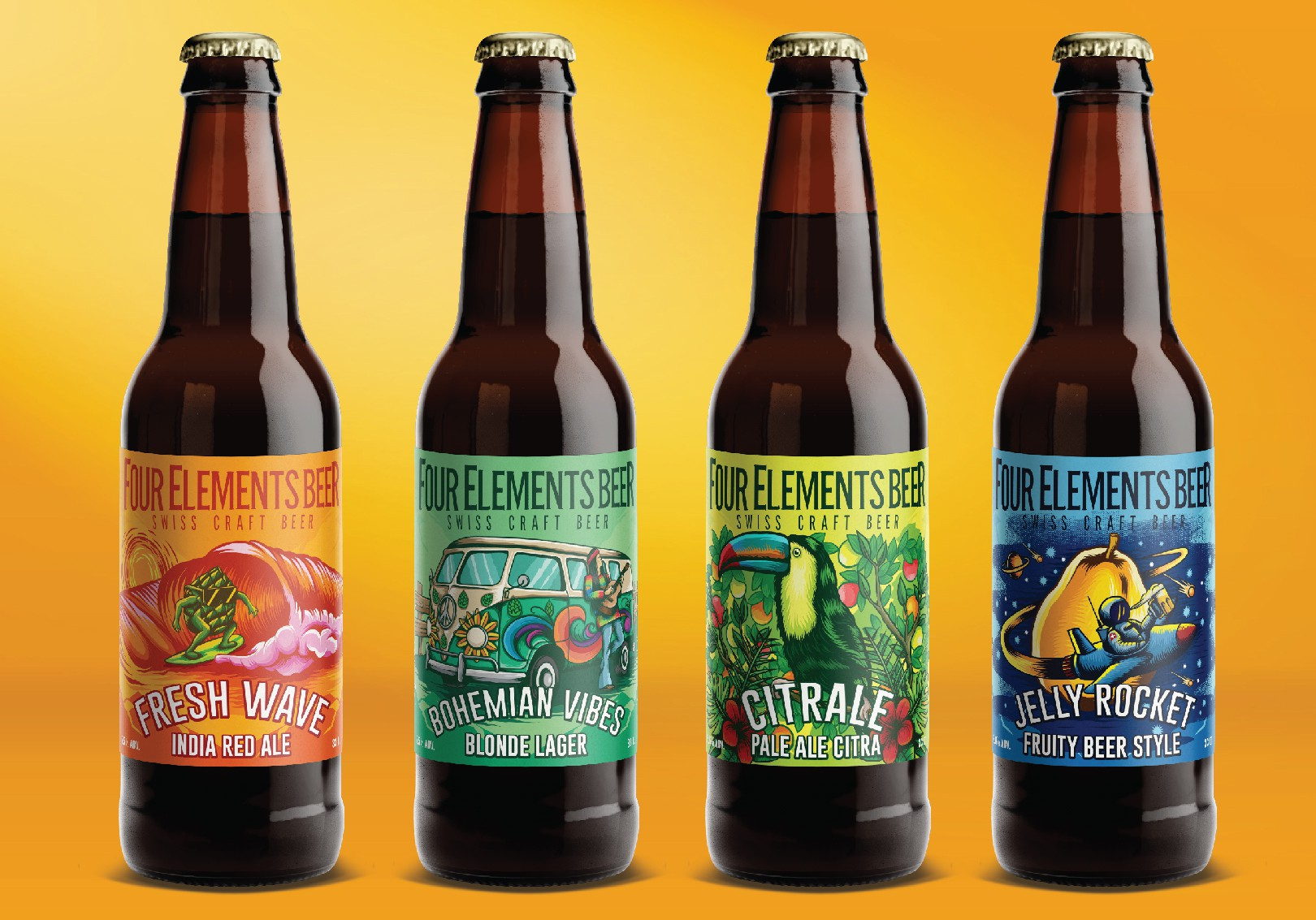 Creation of new label for Swiss Craft Beer ! Dont worry be hoppy !