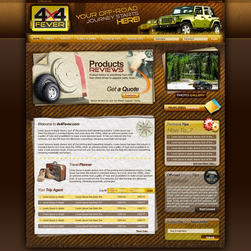Site Design for 4X4Fever.com