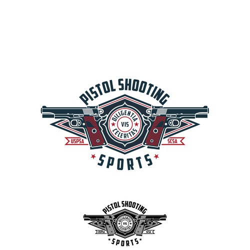 Logo design for Pistol Shooting Sports