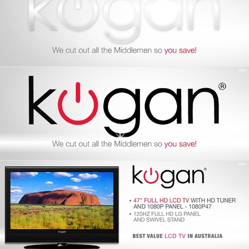 Kogan, major online store animated flash banners