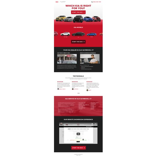 KIA Dealership Landing page design