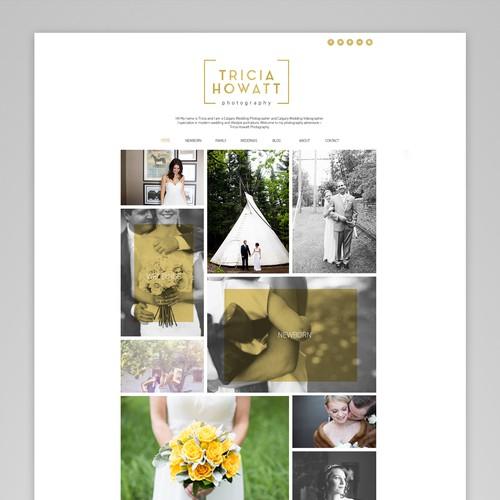 Minimalistic photography site