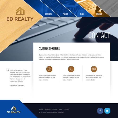 Design website for a professional investment agency.