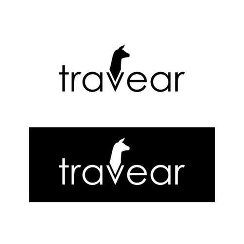 Craft a llama logo for a travel gear site