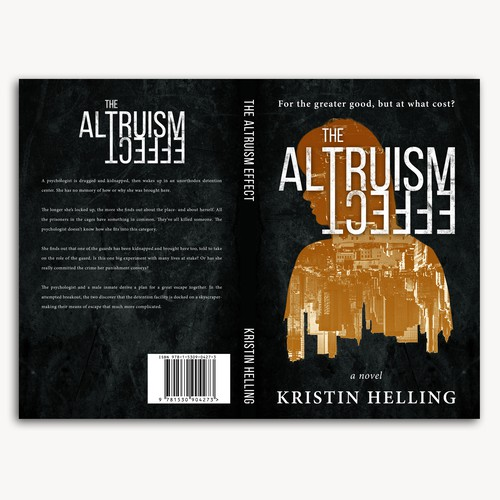 Book cover design for novel