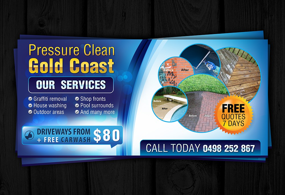 New postcard or flyer wanted for Pressure clean Gold Coast