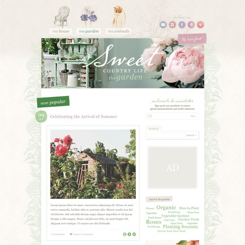 Sweet Country Life Blog Design