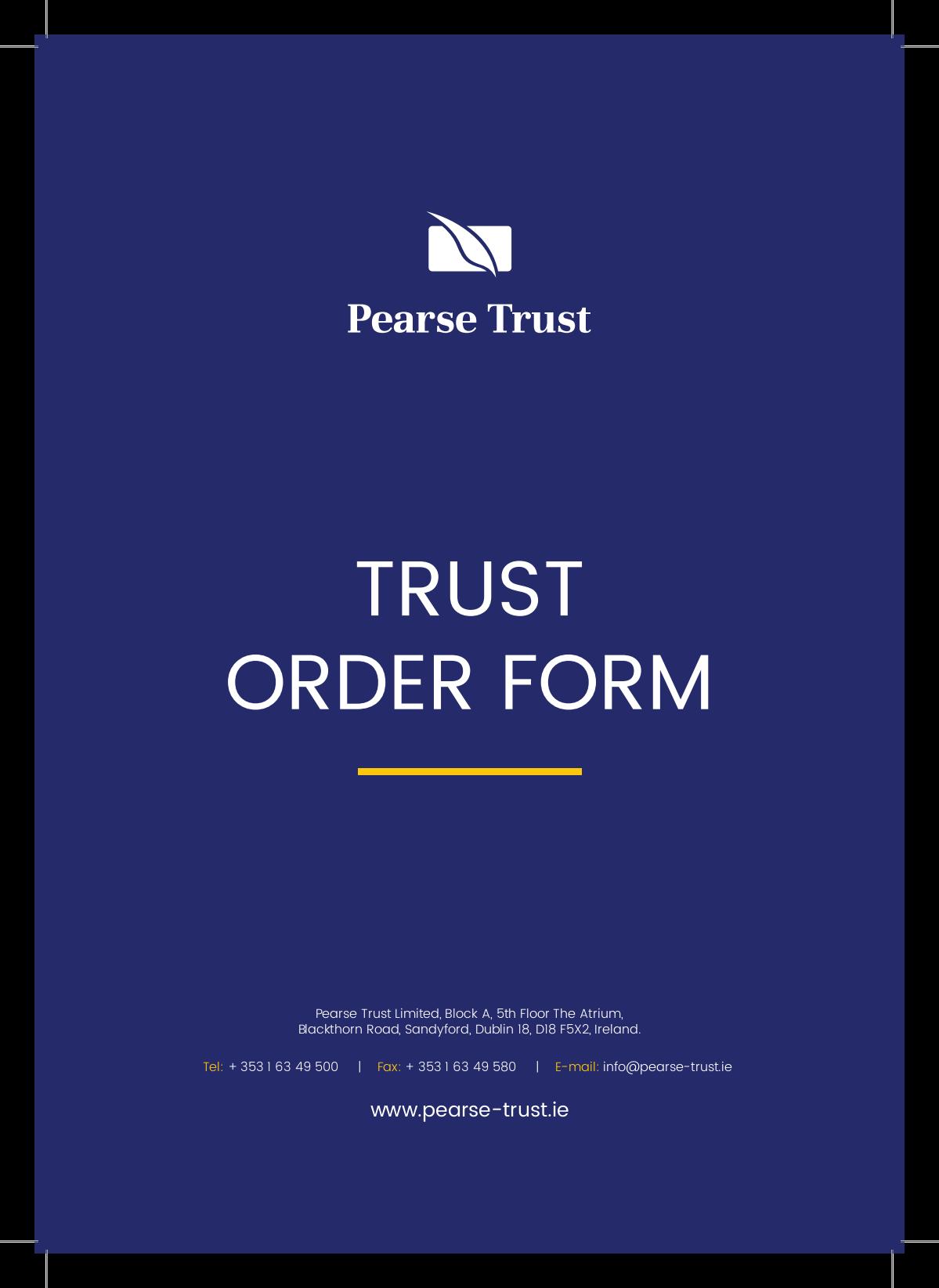 Pearse Trust | IDT Folder Pack & Order Form