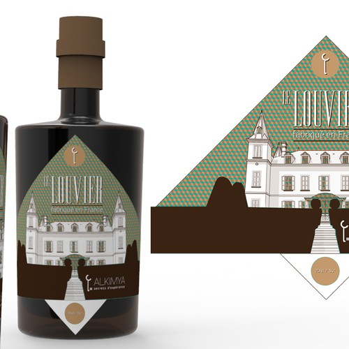 Create classy and modern label for french spirit and alcohol brand Alkimya