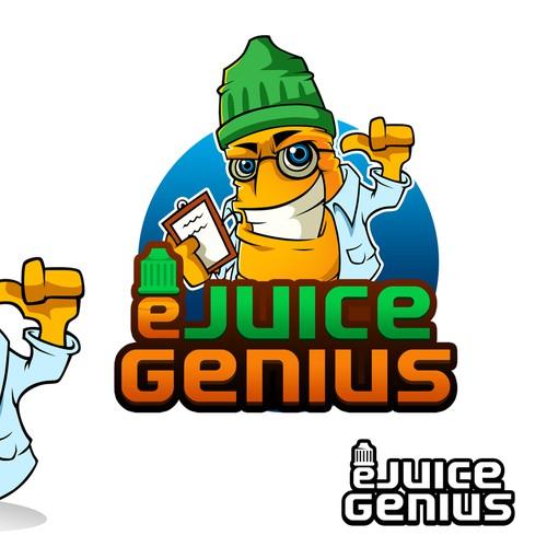Create the next logo for eJuiceGenius