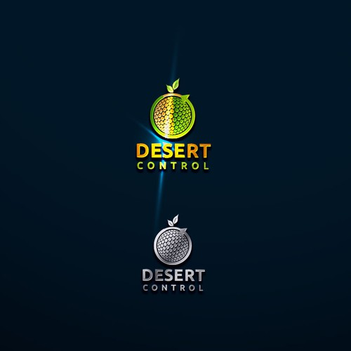 Dignified logo design for 'Desert Control'