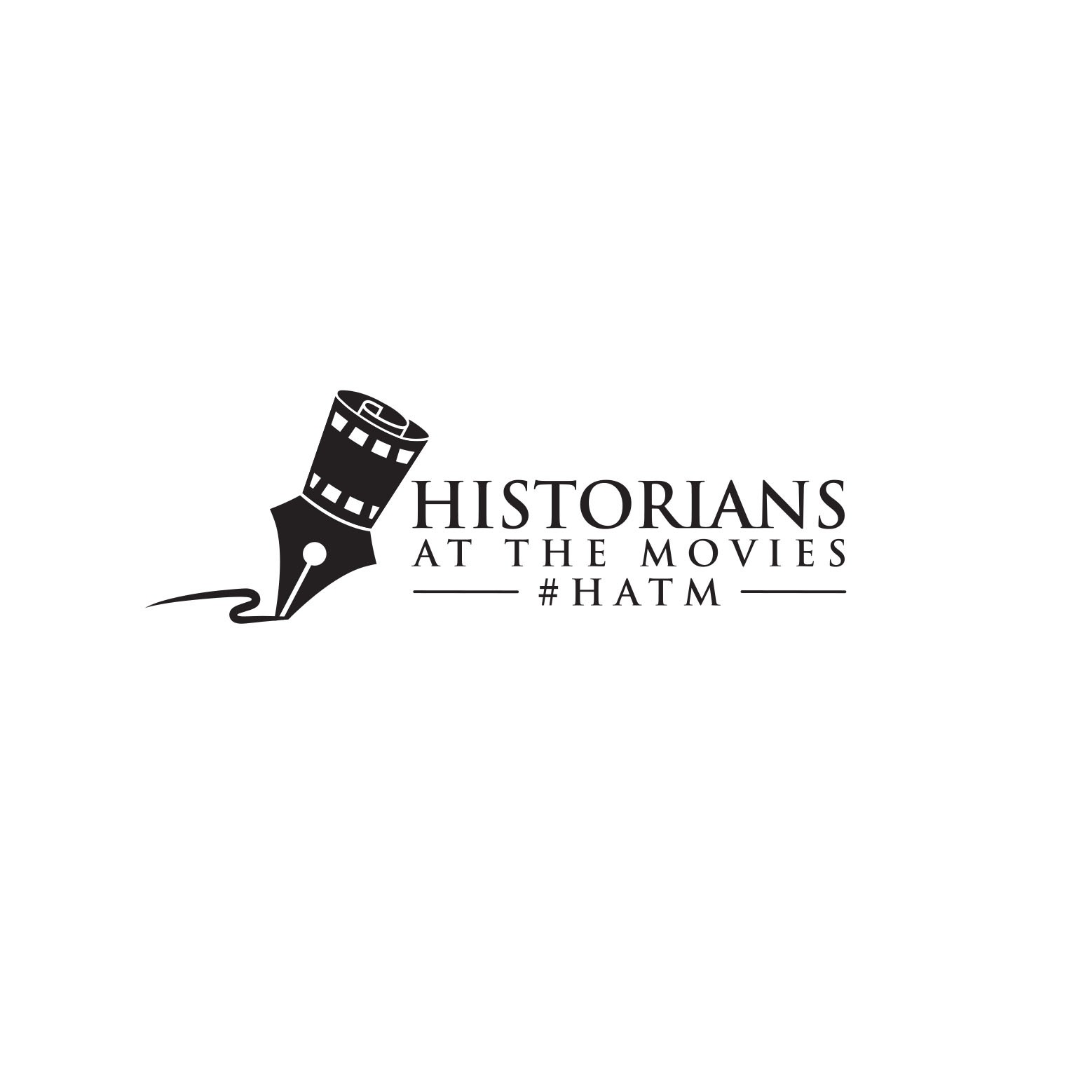 Create the logo for a weekly trending hashtag: Historians At The Movies (#HATM)