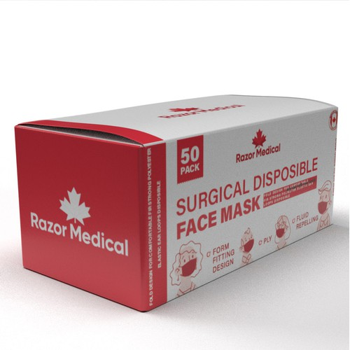 packaging for surgical masks