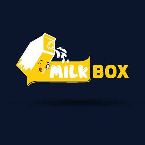 Need a professional yet fun logo for milk tea brand Milk Box