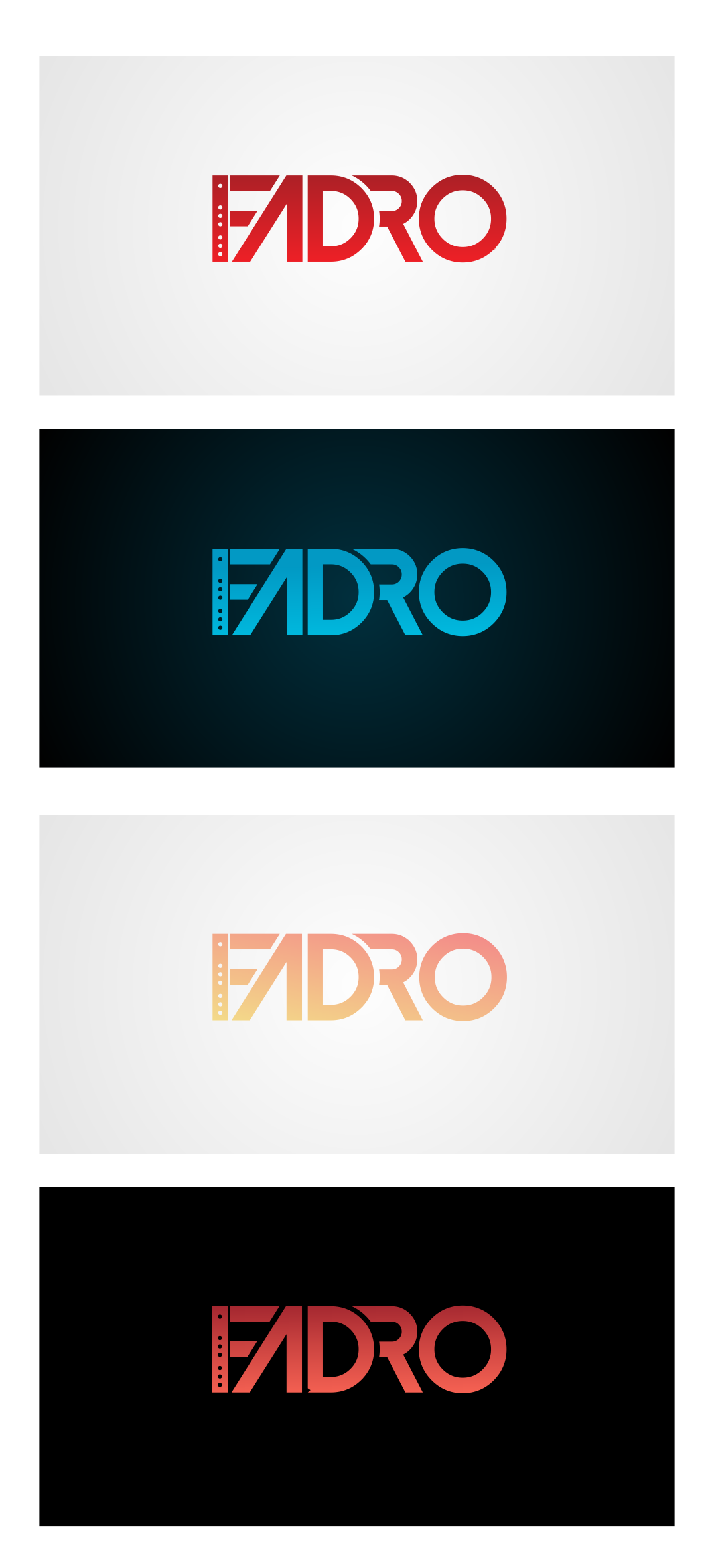 Artist Logo - Incorporate a flute into or around logo lettering of Fadro