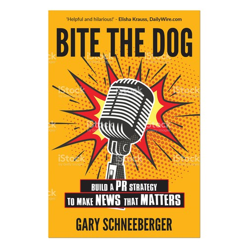 """BITE THE DOG"" creative PR Book: FRONT COVER only"