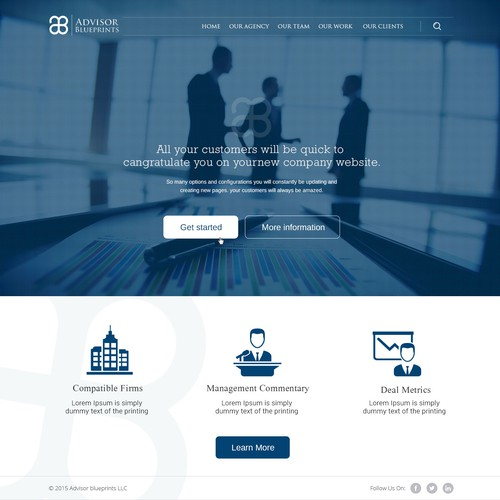 Advisory Firm Corporate Creative Design