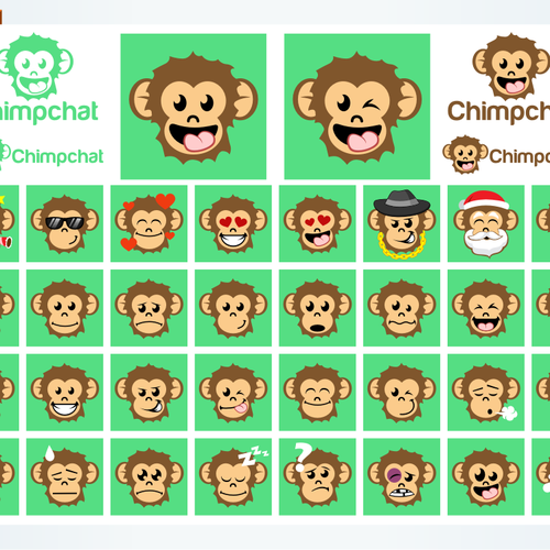 chimpchat emoticon design