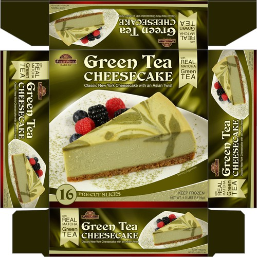 Green Tea Cheescake Packaging