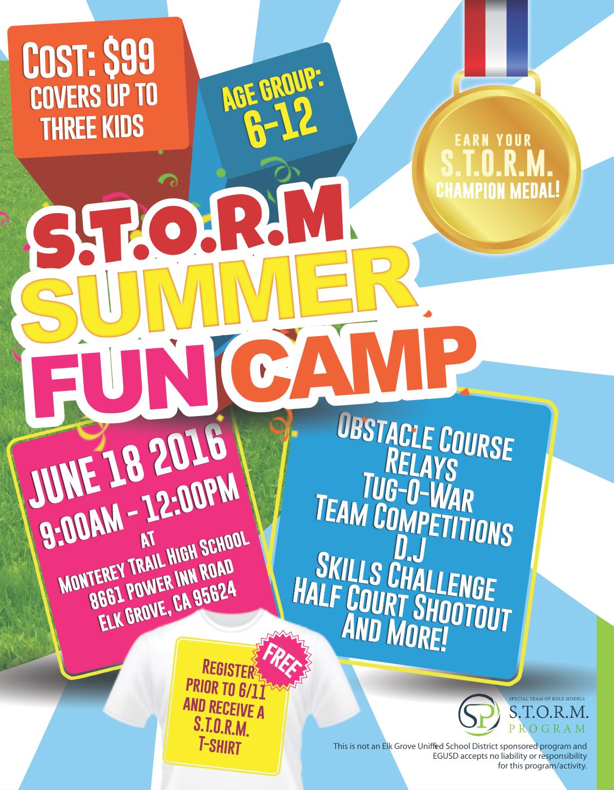 STORM Summer Fun Camp Flyer