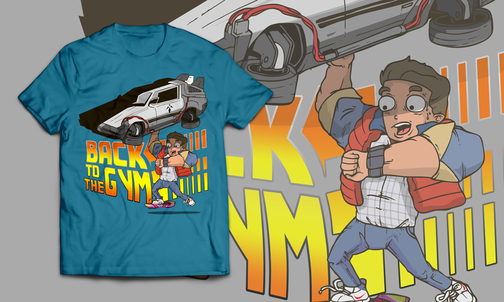 "Create A Unique Take On ""Back To The Future"" for Clothing"