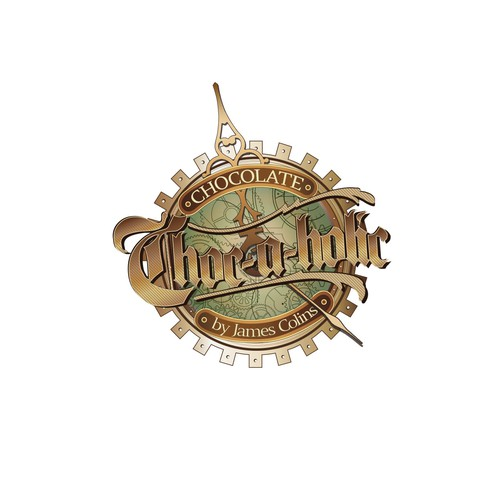 Steam Punk Chocolate shop logo