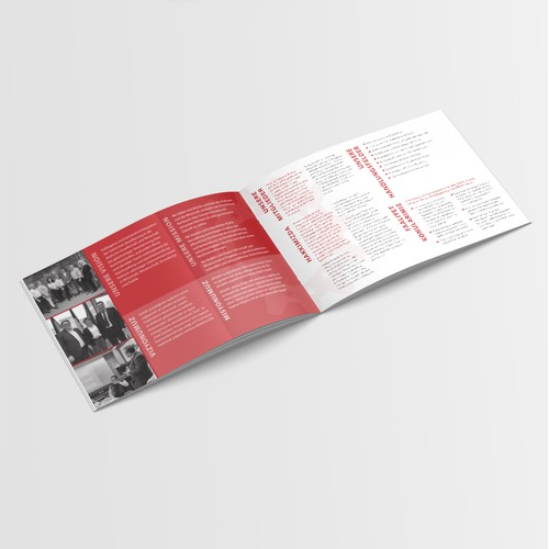 Brochure design for Young Entrepreneur Association