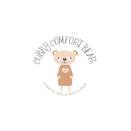 A teddy bear logo