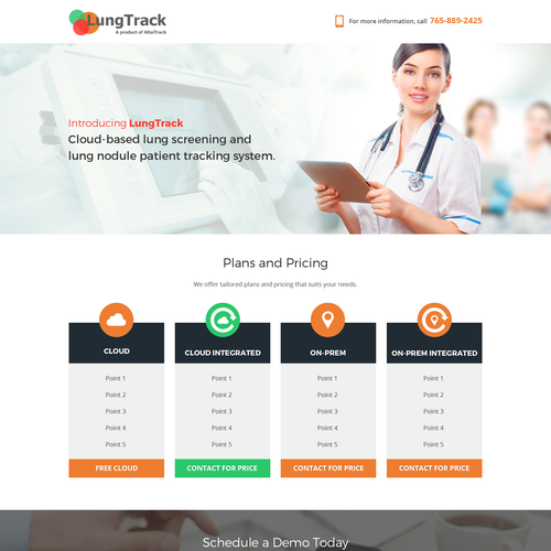 Homepage Design For Lung Screening Service