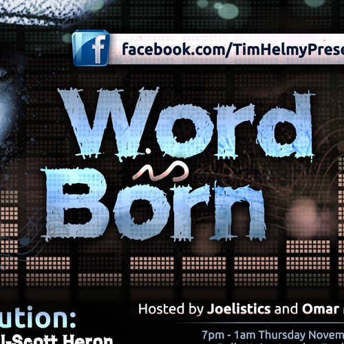 New design wanted for spoken word event 'Word Is Born'