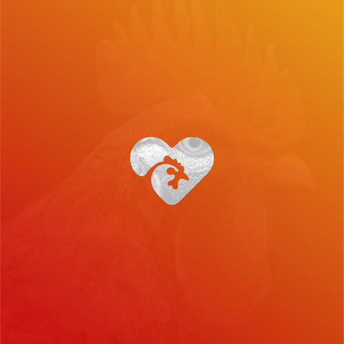 CHICKEN HEART LOGO CONCEPT