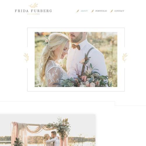 Site design concept for Photographer portfolio