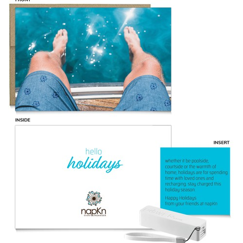 napKn holiday card