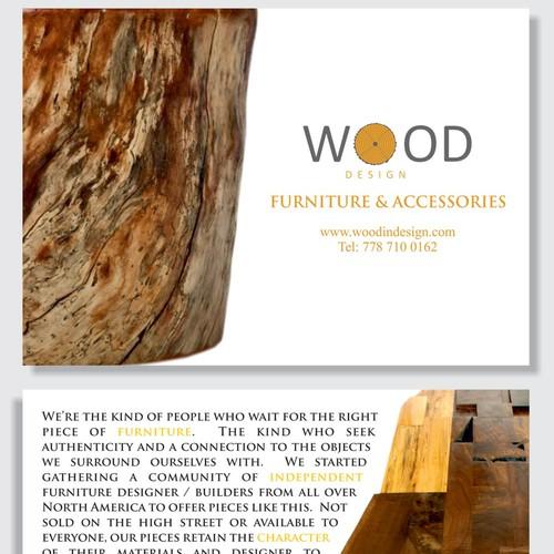 postcard or flyer for Wood Design