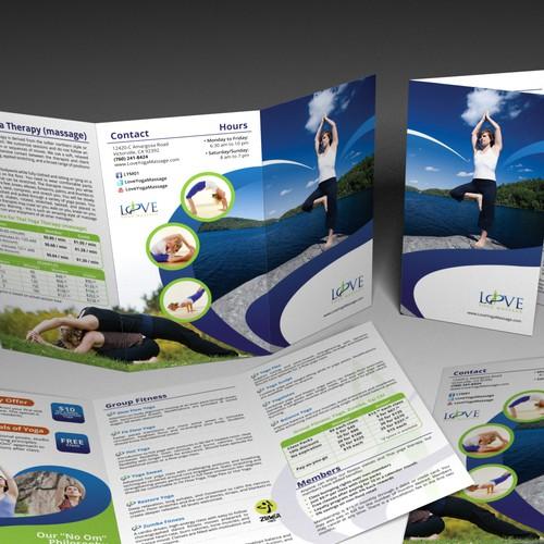 brochure design for Love Yoga Massage