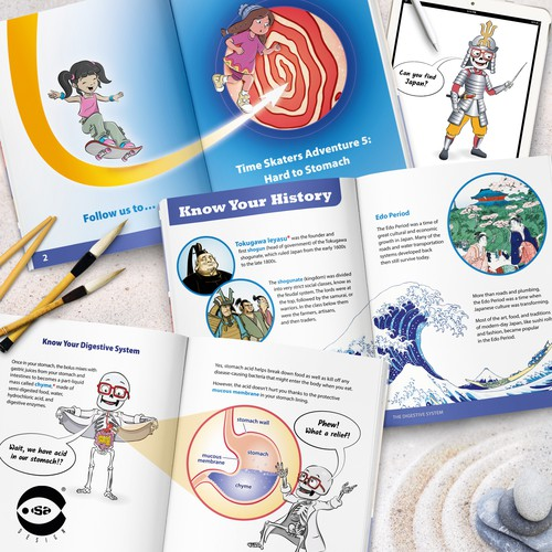 Interior book design and illustrations for Adventure 5 - The Digestive System by Know Yourself PBC