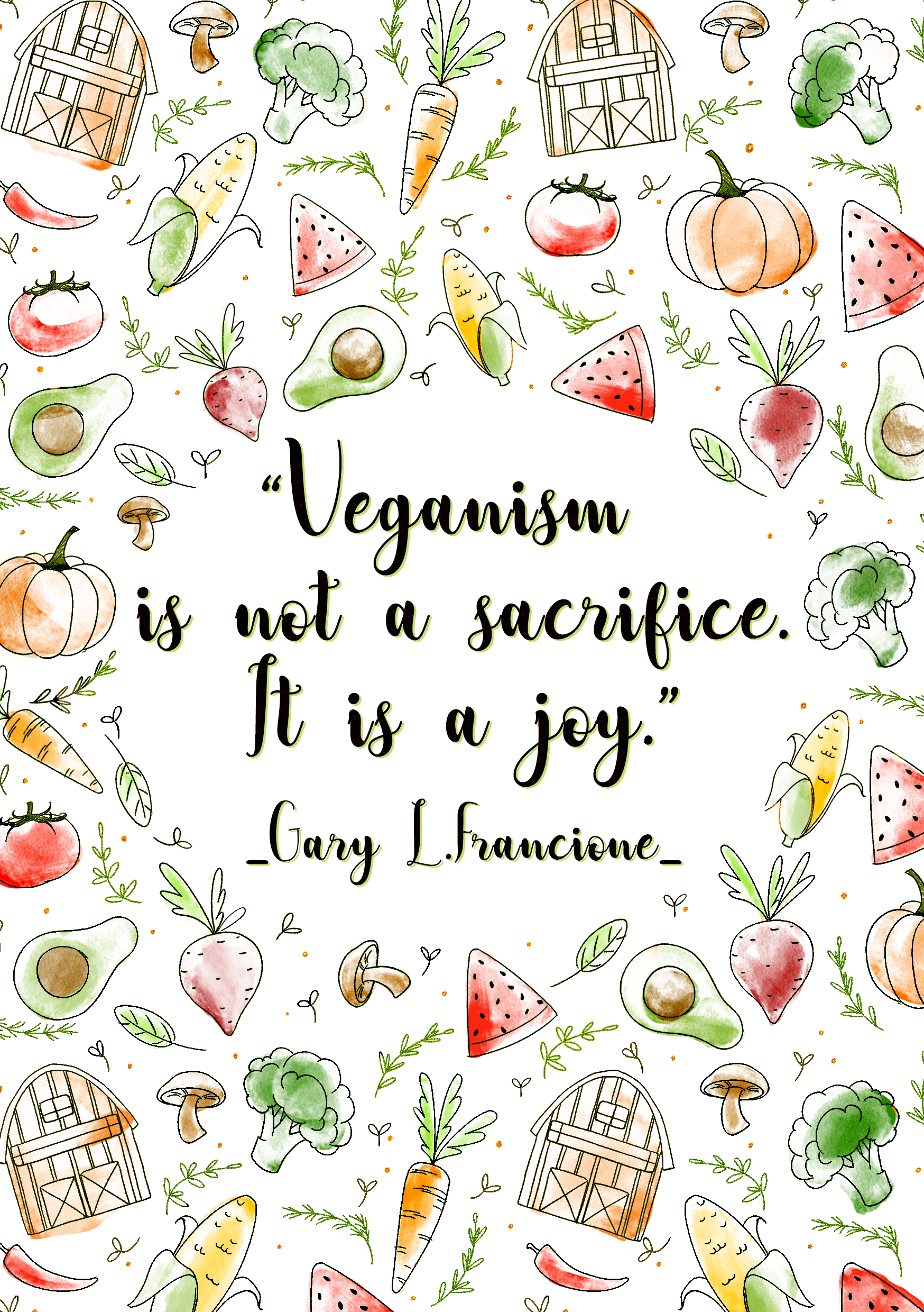 Design a cover for a yearly vegan journal to appeal to vegans