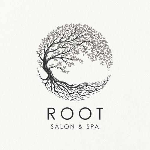 Logo design for ROOT Salon & Spa