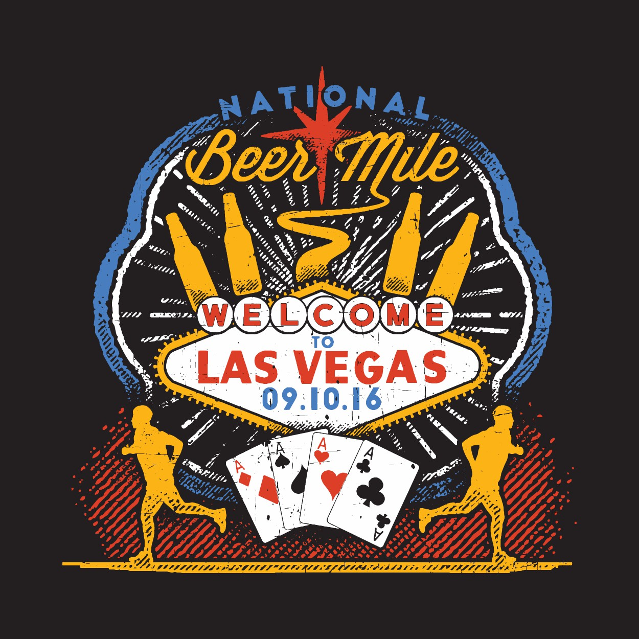 National Beer Mile Las Vegas Tshirt