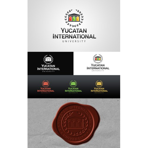 Create a logo for an international university in the Yucatan State of Mexico