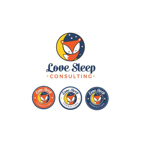Fun, cute, vibrant logo for love Sleep consulting