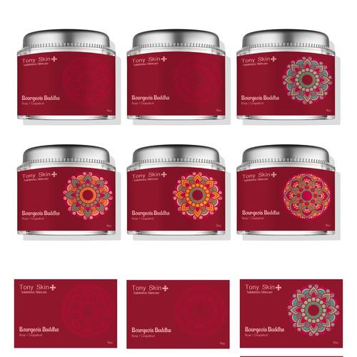 Label design for skin-care product line.