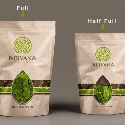 Nirvana green herbs label design