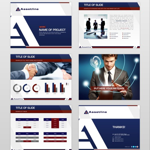 Create a new powerpoint template for Assetline, Australia's leading Personal Asset Lender