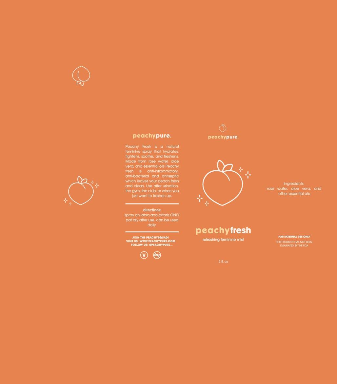 Peachy Pure Packaging & Social Media