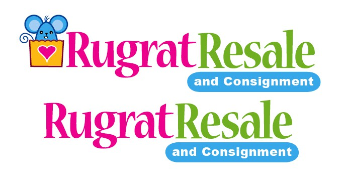 Create the next logo for Rugrat Resale and Consignment