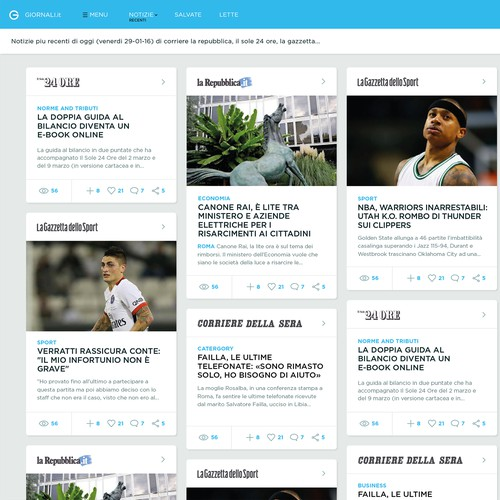 News aggregator website